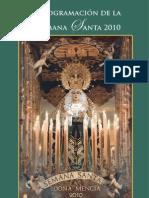 Programación de la Semana Santa 2010 - Doña Mencía