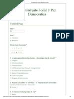 Constituyente Social y Paz Democratica