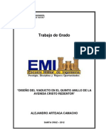 DISEÑO ESTRUCTURAL DEL VIADUCTO EN EL QUINTO ANILLO DE LA AVENIDA CRISTO REDENTOR SANTA CRUZ- BOLIVIA