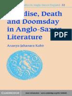 Ananya Jahanara Kabir-Paradise, Death and Doomsday in Anglo-Saxon Literature (Cambridge Studies in Anglo-Saxon England) (2001)