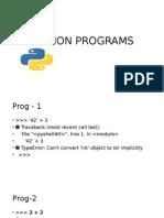 Python Programs