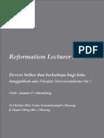 Reformation Lecturer 2015