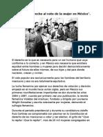 Ensayo Del Derecho Al Voto de La Mujer en México