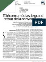 Telecoms-Medias, le grand retour de la convergence