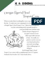 Bengal-Tiger's-Head  Teapot-Cozy