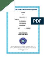 Makalah I'Jaz Al-Qur'an