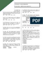 Lista de Exercícios - Análise Combinatória