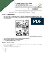 Atividade de Matemática Aplicada 2ª Série