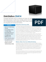 Synology DS414 Data Sheet Enu