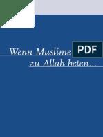Islam Wenn Muslime Zu Allah Beten
