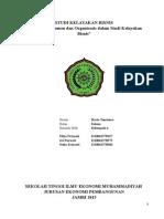 Aspek Manajemen dan Organisasis dalam Studi Kelayakan Bisnis