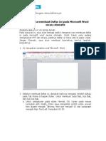 Cara membuat Daftar Isi pada Microsoft Word secara otomatis.pdf