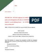 Ib0011– International Marketing