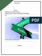 Role of religion in balochistan plitics
