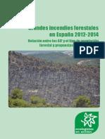 Informe Grandes incendios forestales en España 2012-2014