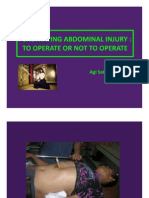 Penetrating Abdominal Injury; To Operate or Not to Operate