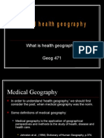 What is Health Geography