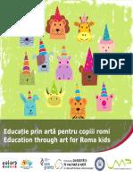 Broșura Educație prin artă pentru copiii romi