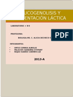 Glucogenolisis y Fermentacion Lactica