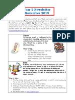Year 2 Autumn 2 Newsletter 2015