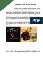 Recenzie Marat. Iubirea Are Spini de Natașa Alina Culea