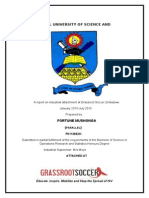 Fortune Mushonga Operations Research and Statistics Attachment Report at Grassroot Soccer Zimbawe