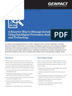 Genpact's Inventory Optimizer Leverages Technology, Analytics, Process & Domain Expertise
