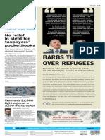 Asbury Park Press front page Thursday, Nov. 19 2015