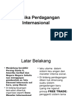 Dinamika Perdagangan  Internasional