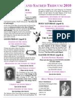 Holy Week 2010 English Flyer