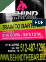 Bartending School in Austin, Texas