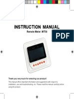 REMOTE METER MT 50 MANUAL