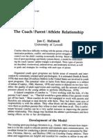 The Coach I Parent I Athlete Relationship