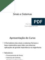 Sinais e Sistemas - Aula 01
