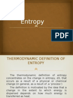 entrpy and second law of thermodynamics