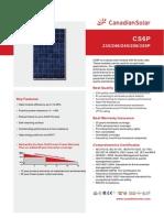 Solar Panel CS6P-P Datasheet