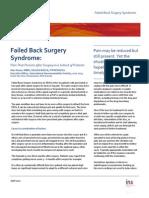 Faild Back Surgery Sindrom