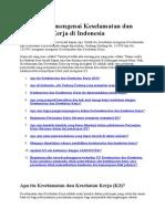 Pertanyaan Mengenai Keselamatan Dan Kesehatan Kerja Di Indonesi1