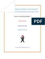 Solusi olimpiade matematika Tingkat Provinsi 2007