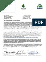 Letter to Vandercar SFA