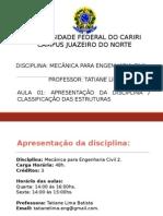 Aula 01_ Classificação Das Estruturas ...