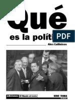 Qué es la política (1984) Alex Callinicos