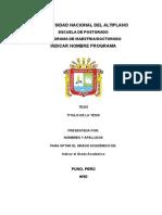 Estructura Informe de Investigacion