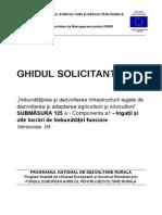 Ghidul Solicitantului Pentru Masura 125 Submasura a1 Versiunea 04 Din Septembrie 2012