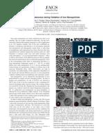 Vacancy Coalecency During Oxidation Iron Nps Temperature Action