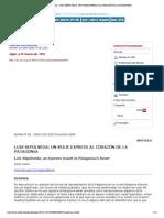 """""""Alpha (Osorno) - LUIS SEPÚLVEDA- UN VIAJE EXPRESS AL CORAZÓN DE LA PATAGONIA"""""""