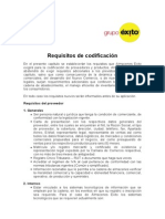 Requisitos de Codificacin