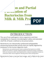 Isolation and Partial Purification of Bacteriocins from Milk & Milk Products