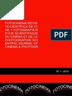 Fotocinema Revista cientifica de cine y fotografia