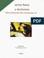 NANCY J L La Declosion Deconstruccion Del Cristianismo I 2008 (1)
